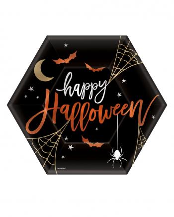 Happy Halloween Hexagon Pappteller 8 St