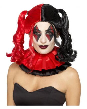 Harlequin Plait Wig Red-black