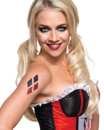 Harley Quinn Glitter Tattoo