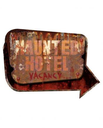 Haunted Hotel Metal Sign