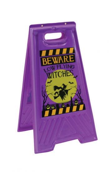 Hexen Warnschild Bodenaufsteller Walpurgisnacht Vorsicht