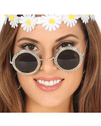 Hippie Brille mit Strass