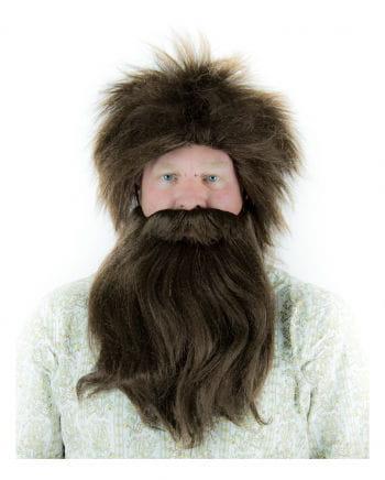 Caveman wig with beard