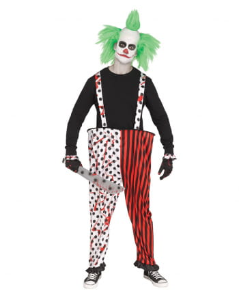 Horror clown pants with gloves