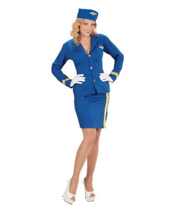 Stewardess Kostüm mit Mütze