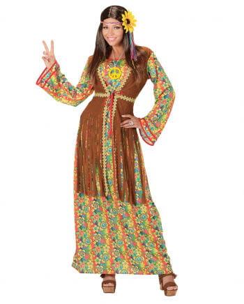Hippie dress with vest & Peace Necklace