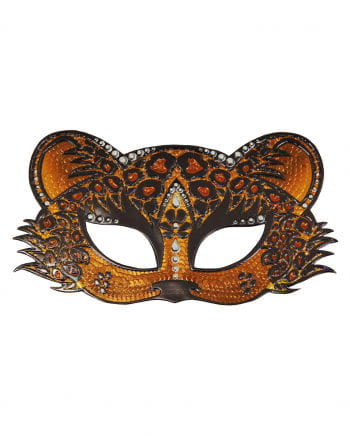Leopard Augenmaske mit Straß