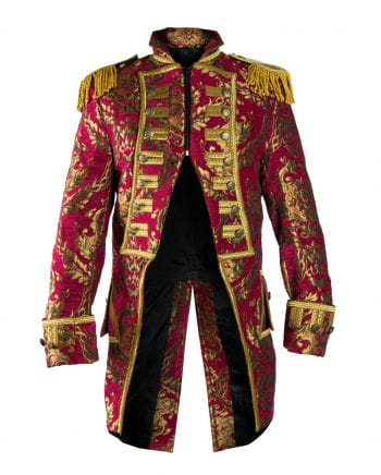 Red and gold brocade coat