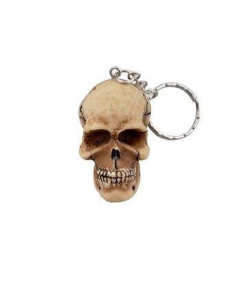 Totenkopf Schlüsselanhänger Beige