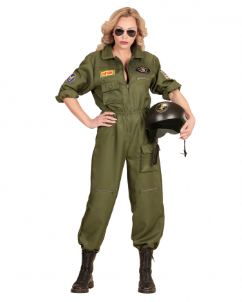 Kampfjet Pilotin Damen Kostüm