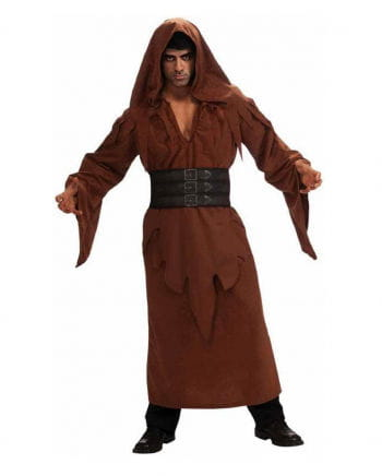 Brown hooded robe