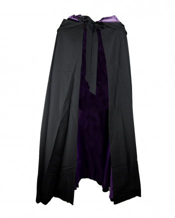 Hooded Cape Black-Violet