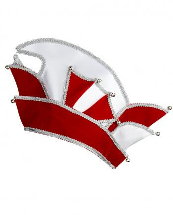 THE Kostüm Zubehör Komitee Mütze Prinz Karneval rot-silber