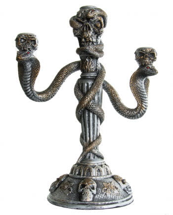 Candlesticks with skulls & cobras