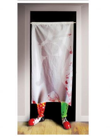 Killer Clown Curtain with feet