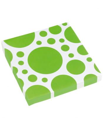 Kiwi Green Dots Napkins 20 Pc.