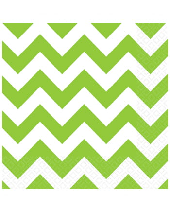 Kiwi Green Zig-Zag Napkins 20 Pc.