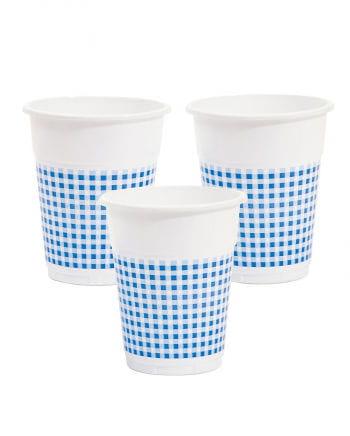 25 Trinkbecher weiß/blau 350ml