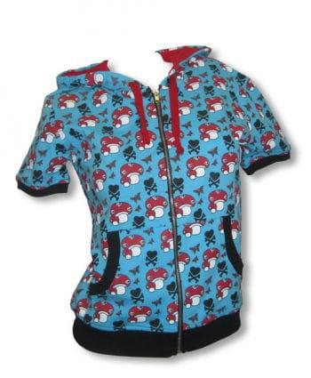 Short sleeve hoodie blue S / 36