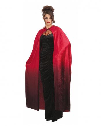 Langer Kostüm Umhang mit rotem Farbverlauf 142cm