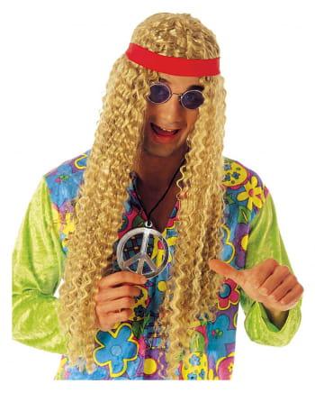 Langhaar Hippie Perücke blond