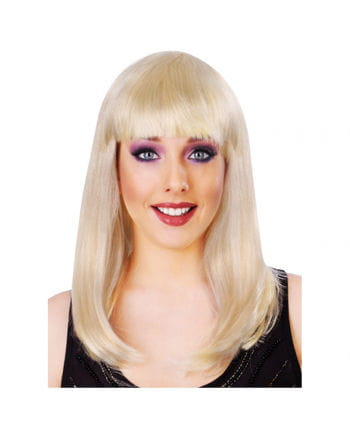 Long-haired wig with bangs blond