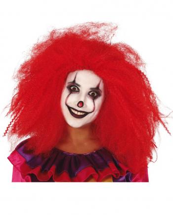 Langhaarige Rote Clownsperücke