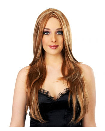 longhair streaked wig caramel movie diva wig for women. Black Bedroom Furniture Sets. Home Design Ideas