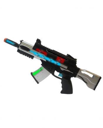 LED Machine Gun Blaster & Sound with light