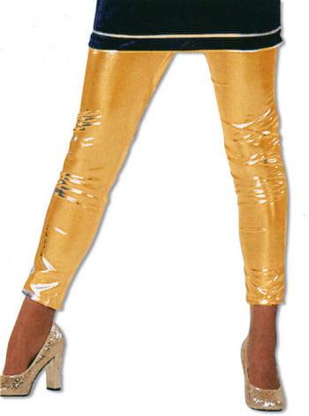 Leggins Gold Glanzoptik XXXL /46