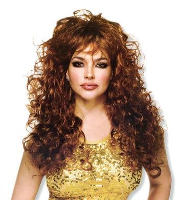 Curly Long Hair Wig Brunette