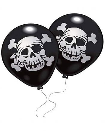 Pirate Balloons Jolly Roger 10 pcs.