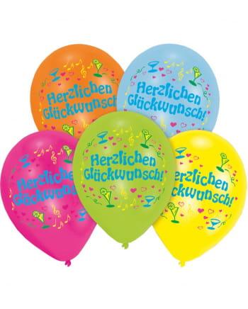 Luftballons Herzlichen Glückwunsch 8 St.