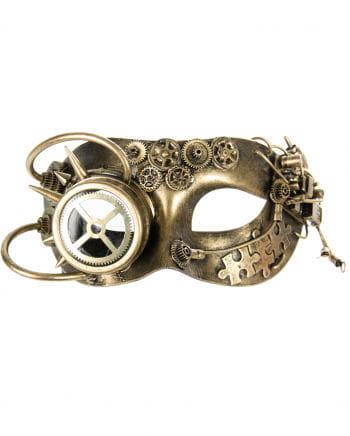 Steampunk Colombina Mask Golden