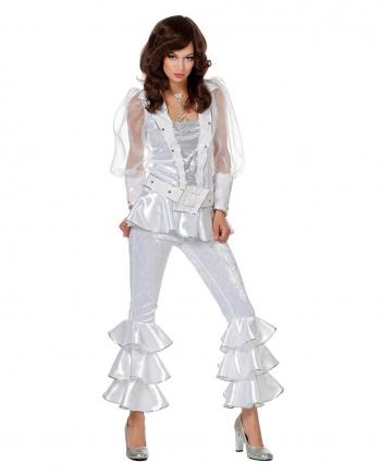 Mama Mia 70s Damen Kostüm weiß