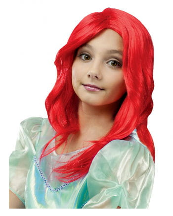 Mermaid Child's Wig Red