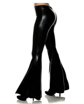 Metallic Flare Pant Black