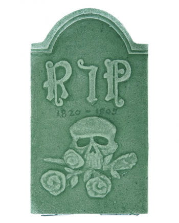 Grave stone Skull and Rose