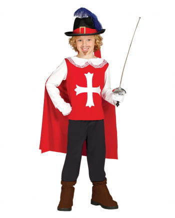Musketeer Children's Costume Red-white