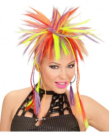 Neon Hair Extensions mit farbigen Zöpfen