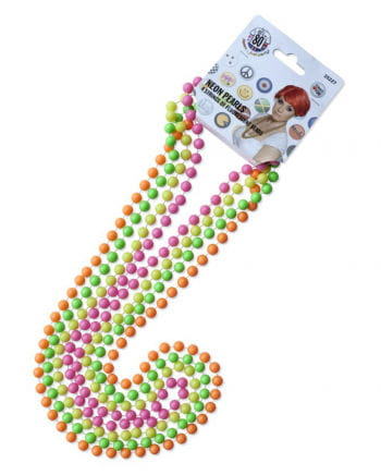4 Neon pearl necklaces