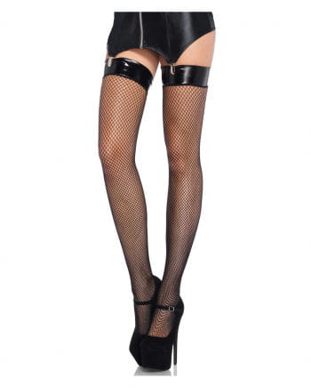 Mesh stockings with vinyl binding