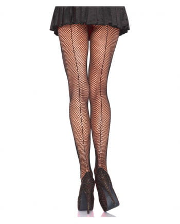 Fishnet pantyhose with seam Plus Size