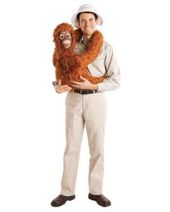 Safari Shirt With Orangutan Baby Hand Doll