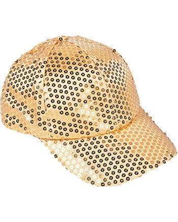 Sequin Cap Gold