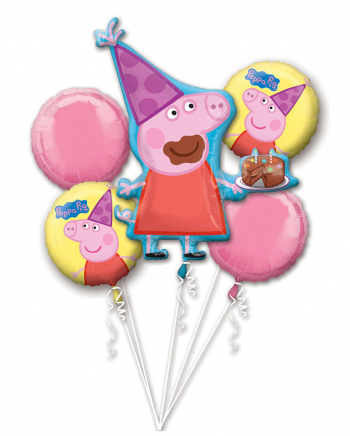 Peppa Pig Folienballon Bouquet