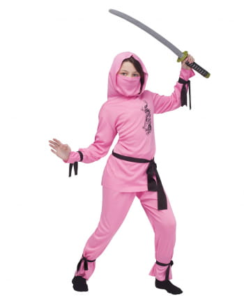 Pinkes Ninja Mädchen Kostüm