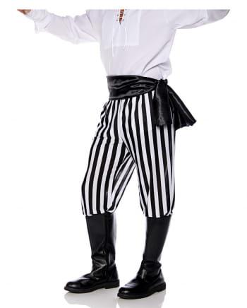 Piraten Kostümhose schwarz-weiß gestreift