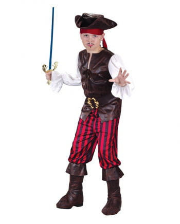 Piraten Deluxe Kinderkostüm Gr. S