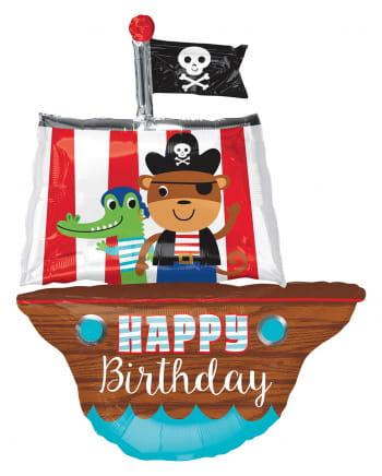 Piratenschiff Folienballon Geburtstag 86cm